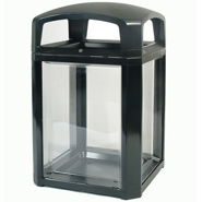 Rubbermaid 3975-89 Landmark Series Security Container w/lock and clear panels